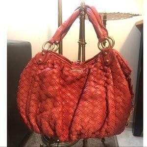 Miu Miu Intreccio Woven Bag